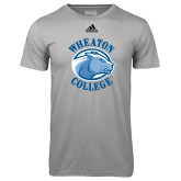 Adidas Climalite Sport Grey Ultimate Performance Tee-Wheaton College - Lyon Head