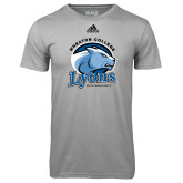 Adidas Climalite Sport Grey Ultimate Performance Tee-Wheaton College Lyons - Lyon Head