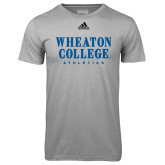 Adidas Climalite Sport Grey Ultimate Performance Tee-Wheaton College Athletics