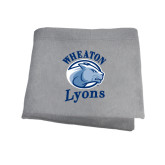 Grey Sweatshirt Blanket-Wheaton Lyons - Official Logo