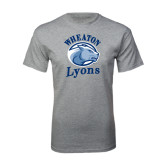 Grey T Shirt-Wheaton Lyons - Official Logo