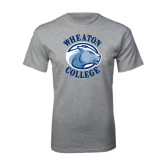 Grey T Shirt-Wheaton College - Lyon Head