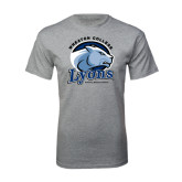 Grey T Shirt-Wheaton College Lyons - Lyon Head