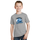 Youth Grey T-Shirt-Wheaton College Lyons - Lyon Head