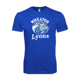 Next Level SoftStyle Royal T Shirt-Wheaton Lyons - Official Logo