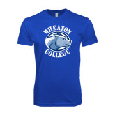 Next Level SoftStyle Royal T Shirt-Wheaton College - Lyon Head