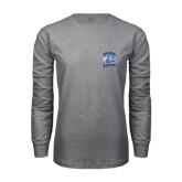 Grey Long Sleeve T Shirt-Wheaton Lyons - Official Logo