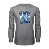 Grey Long Sleeve T Shirt-Wheaton Lyons - Official Logo