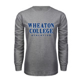 Grey Long Sleeve T Shirt-Wheaton College Athletics