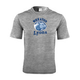 Performance Grey Heather Contender Tee-Wheaton Lyons - Official Logo