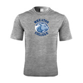 Performance Grey Heather Contender Tee-Wheaton College - Lyon Head