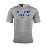 Performance Grey Heather Contender Tee-Wheaton College Athletics