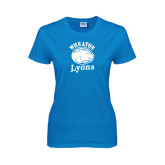 Ladies Sapphire T Shirt-Wheaton Lyons - Official Logo