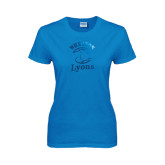 Ladies Sapphire T Shirt-Wheaton Lyons - Official Logo Foil