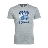 Next Level SoftStyle Heather Grey T Shirt-Wheaton Lyons - Official Logo