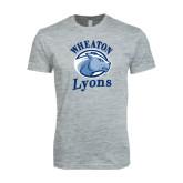 Next Level SoftStyle Heather Grey T Shirt-Wheaton Lyons - Official Logo