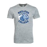 Next Level SoftStyle Heather Grey T Shirt-Wheaton College - Lyon Head
