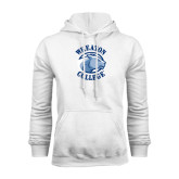 White Fleece Hoodie-Wheaton College - Lyon Head