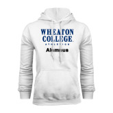 White Fleece Hoodie-Alumnus