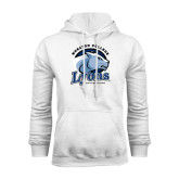 White Fleece Hoodie-Wheaton College Lyons - Lyon Head