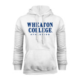 White Fleece Hoodie-Wheaton College Athletics
