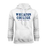 White Fleece Hoodie-Wheaton College Athletics