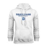 White Fleece Hoodie-Baseball w/ Lyon Head