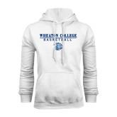 White Fleece Hoodie-Basketball w/ Lyon Head