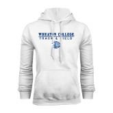 White Fleece Hoodie-Track and Field w/ Lyon Head