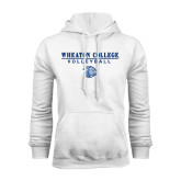 White Fleece Hoodie-Volleyball w/ Lyon Head