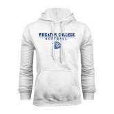 White Fleece Hoodie-Softball w/ Lyon Head