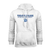 White Fleece Hoodie-Field Hockey w/ Lyon Head