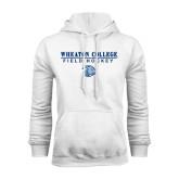 White Fleece Hoodie-Field Hockey w/ Lyon Head