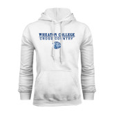 White Fleece Hoodie-Cross Country w/ Lyon Head