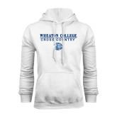 White Fleece Hoodie-Cross Country w/ Lyon Head