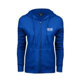 ENZA Ladies Royal Fleece Full Zip Hoodie-Wheaton College Athletics