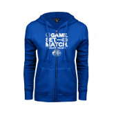 ENZA Ladies Royal Fleece Full Zip Hoodie-Game Set Match - Tennis Design