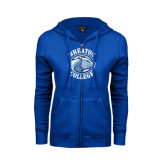 ENZA Ladies Royal Fleece Full Zip Hoodie-Wheaton College - Lyon Head