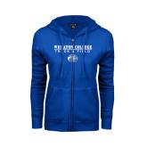 ENZA Ladies Royal Fleece Full Zip Hoodie-Track and Field w/ Lyon Head