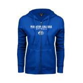ENZA Ladies Royal Fleece Full Zip Hoodie-Softball w/ Lyon Head