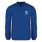 V Neck Royal Raglan Windshirt-Wheaton Lyons - Official Logo