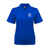 Ladies Easycare Royal Pique Polo-Wheaton College - Lyon Head