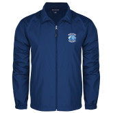Full Zip Royal Wind Jacket-Wheaton College - Lyon Head