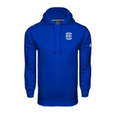 Under Armour Royal Performance Sweats Team Hoodie-Wheaton College - Lyon Head