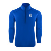 Sport Wick Stretch Royal 1/2 Zip Pullover-Wheaton College - Lyon Head