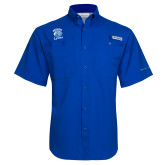 Columbia Tamiami Performance Royal Short Sleeve Shirt-Wheaton Lyons - Official Logo