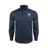 Red House Deep Blue Herringbone Long Sleeve Shirt-Wheaton Lyons - Official Logo