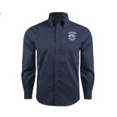 Red House Deep Blue Herringbone Long Sleeve Shirt-Wheaton College - Lyon Head