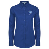 Ladies Royal Twill Button Down Long Sleeve-Wheaton Lyons - Official Logo
