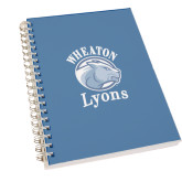 Clear 7 x 10 Spiral Journal Notebook-Wheaton Lyons - Official Logo